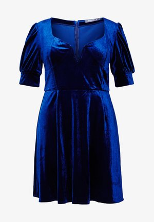 EXCLUSIVE PLUNGE PUFF SLEEVE MINI DRESS - Vestito elegante - blue