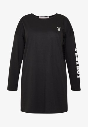 PLAYBOY DIAMANTE BACK DRESS - Jersey dress - black