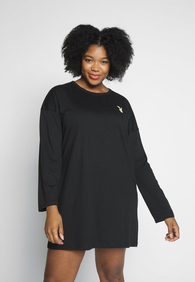 PLAYBOY DOOR MAGAZINE DRESS - Jerseyjurk - black
