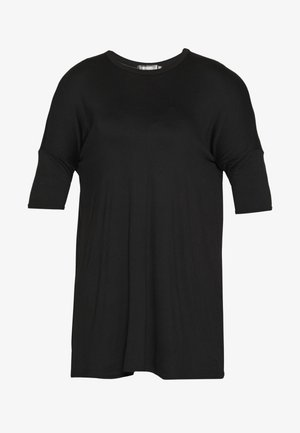 OVERSIZED DRESS - Jerseyjurk - black