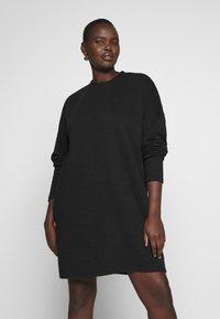 Missguided Plus - HORIZONTAL DRESS - Hverdagskjoler - black - 0