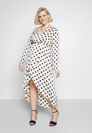 POLKA HIGH LOW DRESS - Robe longue - champagne