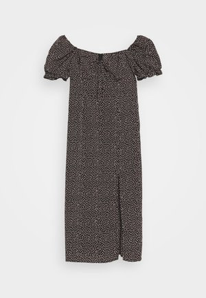MILKMAID TIE BUST DRESS SPRINKLE - Maxi dress - black