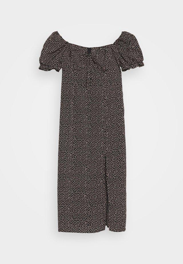 MILKMAID TIE BUST DRESS SPRINKLE - Maksimekko - black