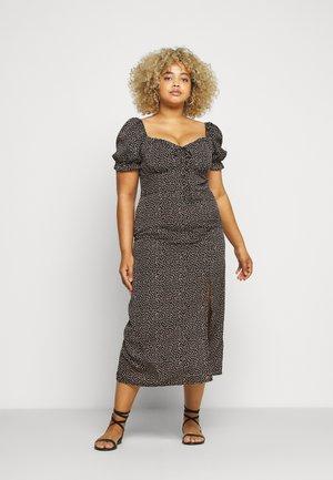 MILKMAID TIE BUST DRESS SPRINKLE - Robe d'été - black