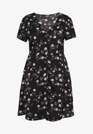 BUTTON THROUGH TEA DRESS  - Day dress - black