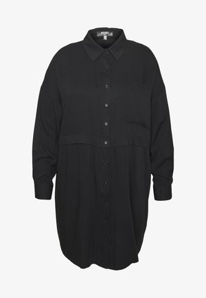 PLUS SIZE UTILITY SHIRT DRESS - Robe chemise - black