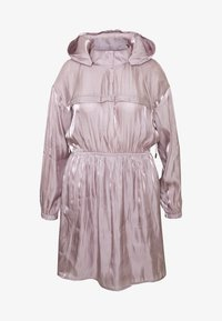 Missguided Plus - IRIDESCENT HOODED DRESS - Denní šaty - pink - 4