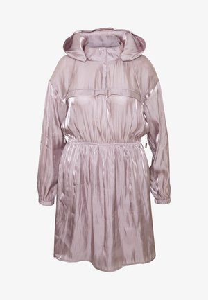 IRIDESCENT HOODED DRESS - Kjole - pink