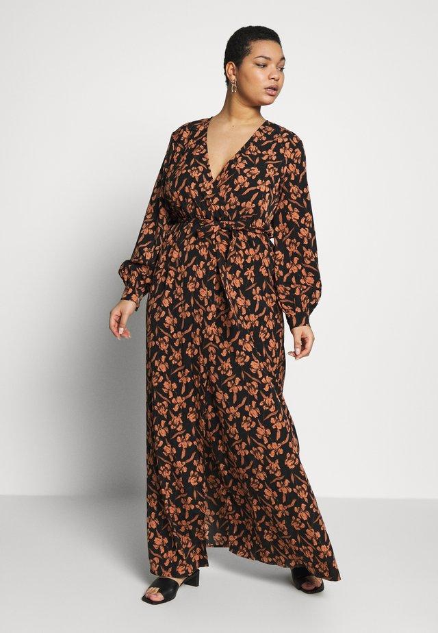 PLUS SIZE PLUNGEPRINT MAXI DRESS - Długa sukienka - navy
