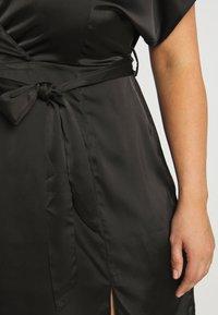 Missguided Plus - KIMONO SLEEVE WRAP SKATER MINI DRESS - Koktejlové šaty/ šaty na párty - black - 5