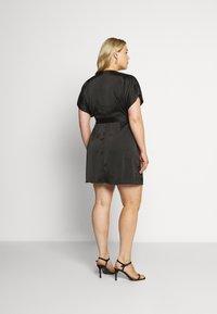 Missguided Plus - KIMONO SLEEVE WRAP SKATER MINI DRESS - Koktejlové šaty/ šaty na párty - black - 2