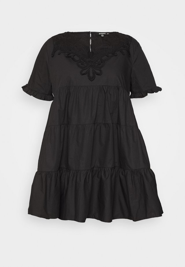 PLUS POPLIN SMOCK DRESS - Day dress - black