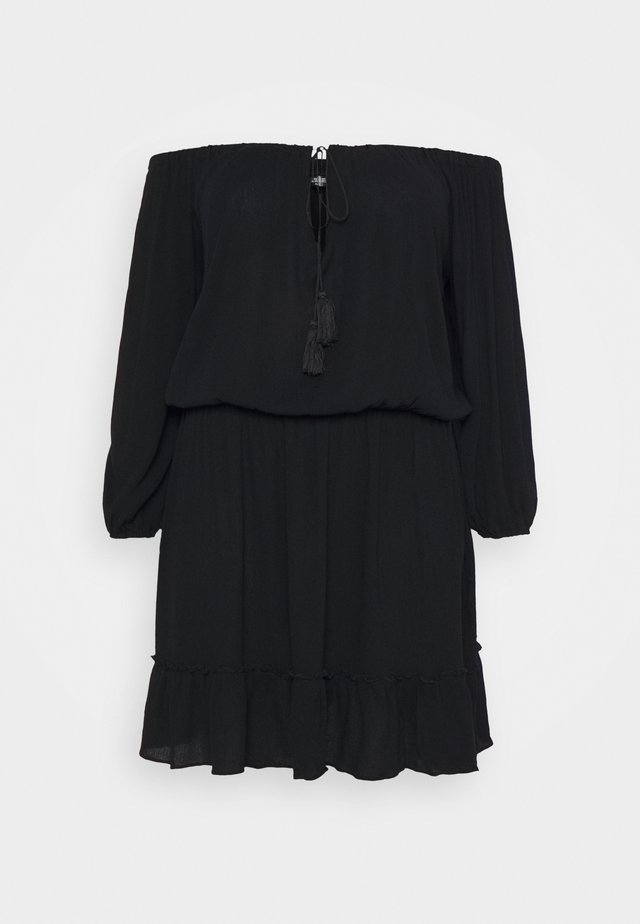 BARDOT TASSEL DRESS - Kjole - black