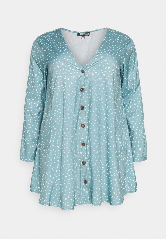 DALMATIAN BUTTON SMOCK DRESS - Sukienka koszulowa - blue