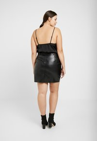 Missguided Plus - COWL NECK BODYSUIT WITH INSERT - Top - black - 2