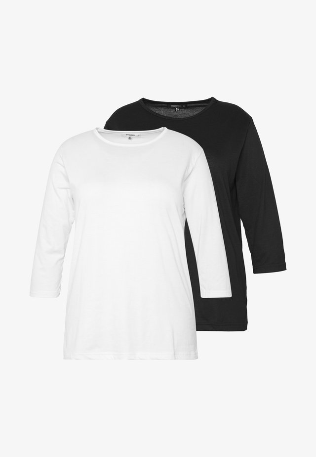 LONG SLEEVE 2 PACK - Langarmshirt - black/white