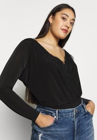 Missguided Plus - T-shirt à manches longues - black - 3
