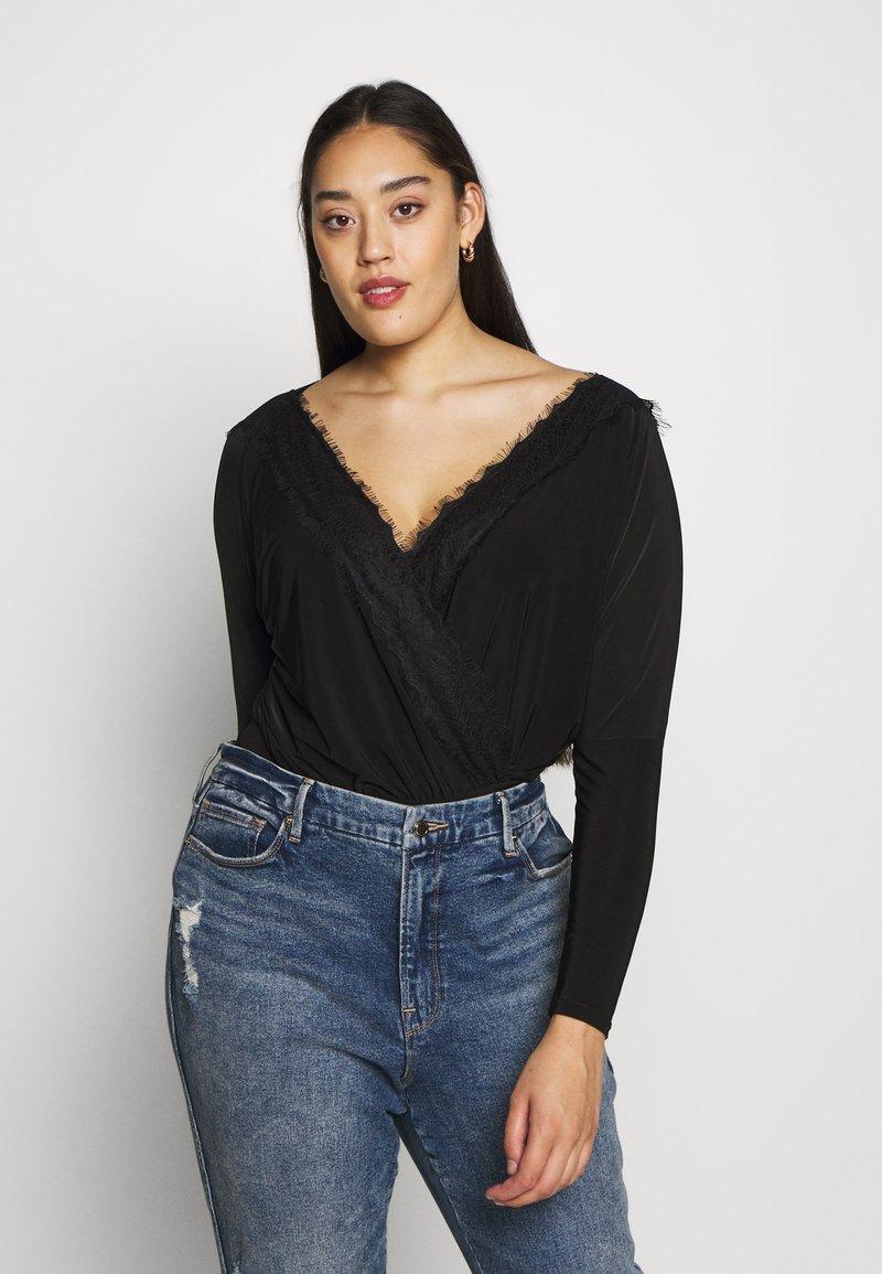 Missguided Plus - T-shirt à manches longues - black