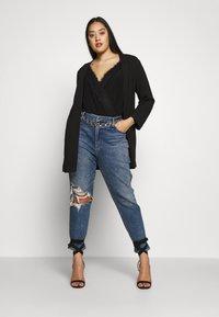Missguided Plus - T-shirt à manches longues - black - 1