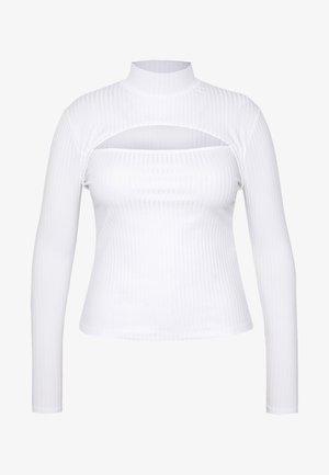 HIGH NECK LONG SLEEVE  - Long sleeved top - white