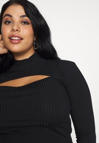 Missguided Plus - HIGH NECK LONG SLEEVE  - Top s dlouhým rukávem - black - 3