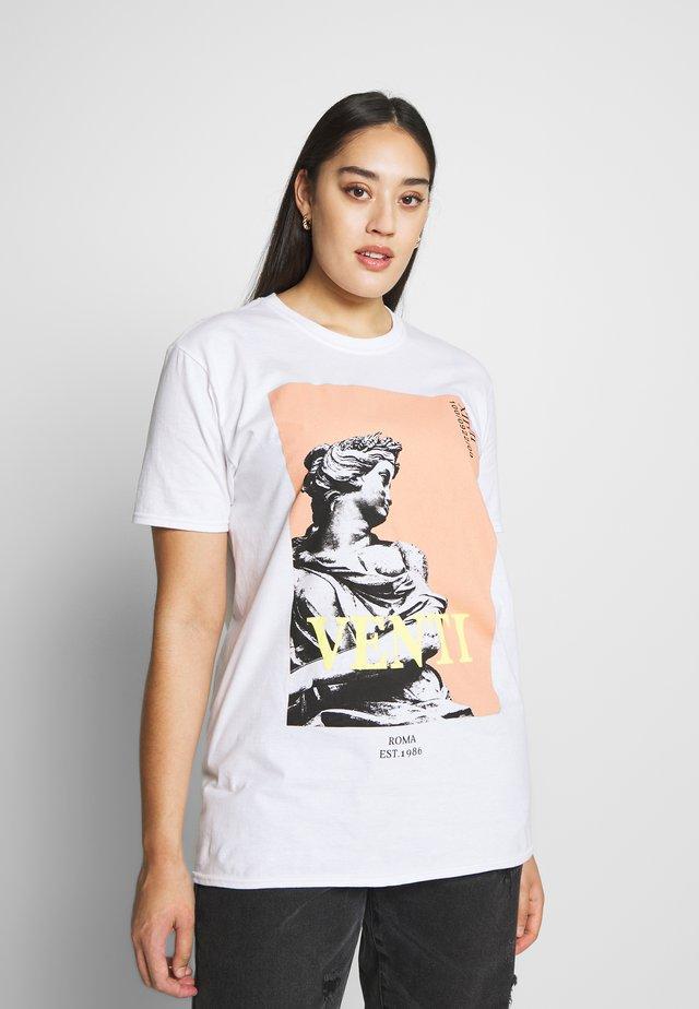VENTI STATUE - T-shirt med print - white