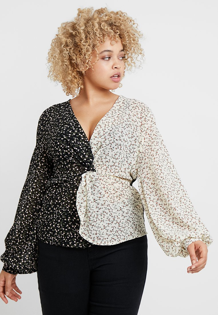 Missguided Plus - CURVE FLORAL SPOT - Bluser - black