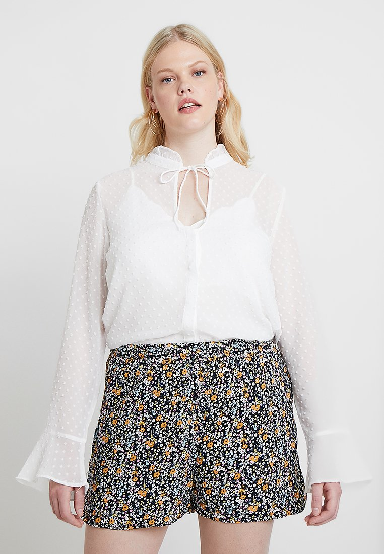 Missguided Plus - CURVE DOBBY BLOUSE - Blouse - white