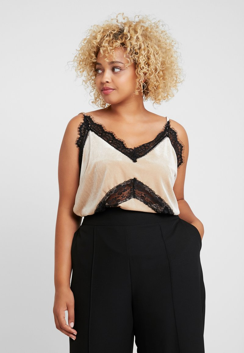 Missguided Plus - CAMI - Top - champagne