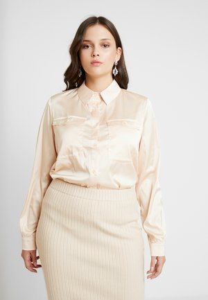OVERSIZED DRAWSTRING WAIST - Camicia - champagne