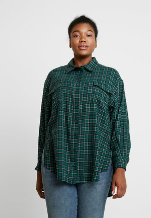 OVERSIZED CHECK SHIRT - Košile - green