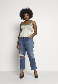 Missguided Plus - SELF BUTTONS TOP - Blouse - mint - 1