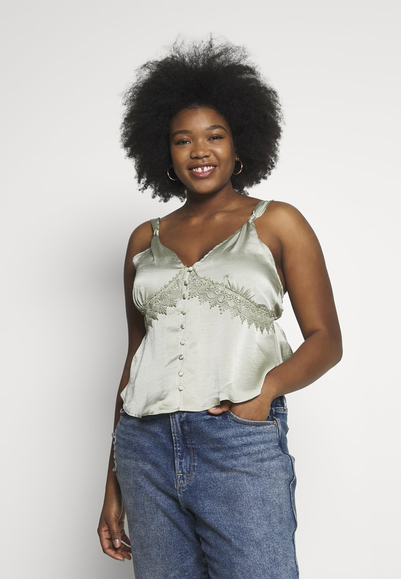 Missguided Plus - SELF BUTTONS TOP - Blouse - mint