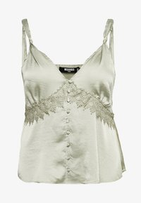 Missguided Plus - SELF BUTTONS TOP - Blouse - mint - 3