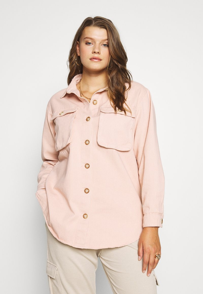 Missguided Plus - SHIRT WITH BUTTONS - Chemisier - pink