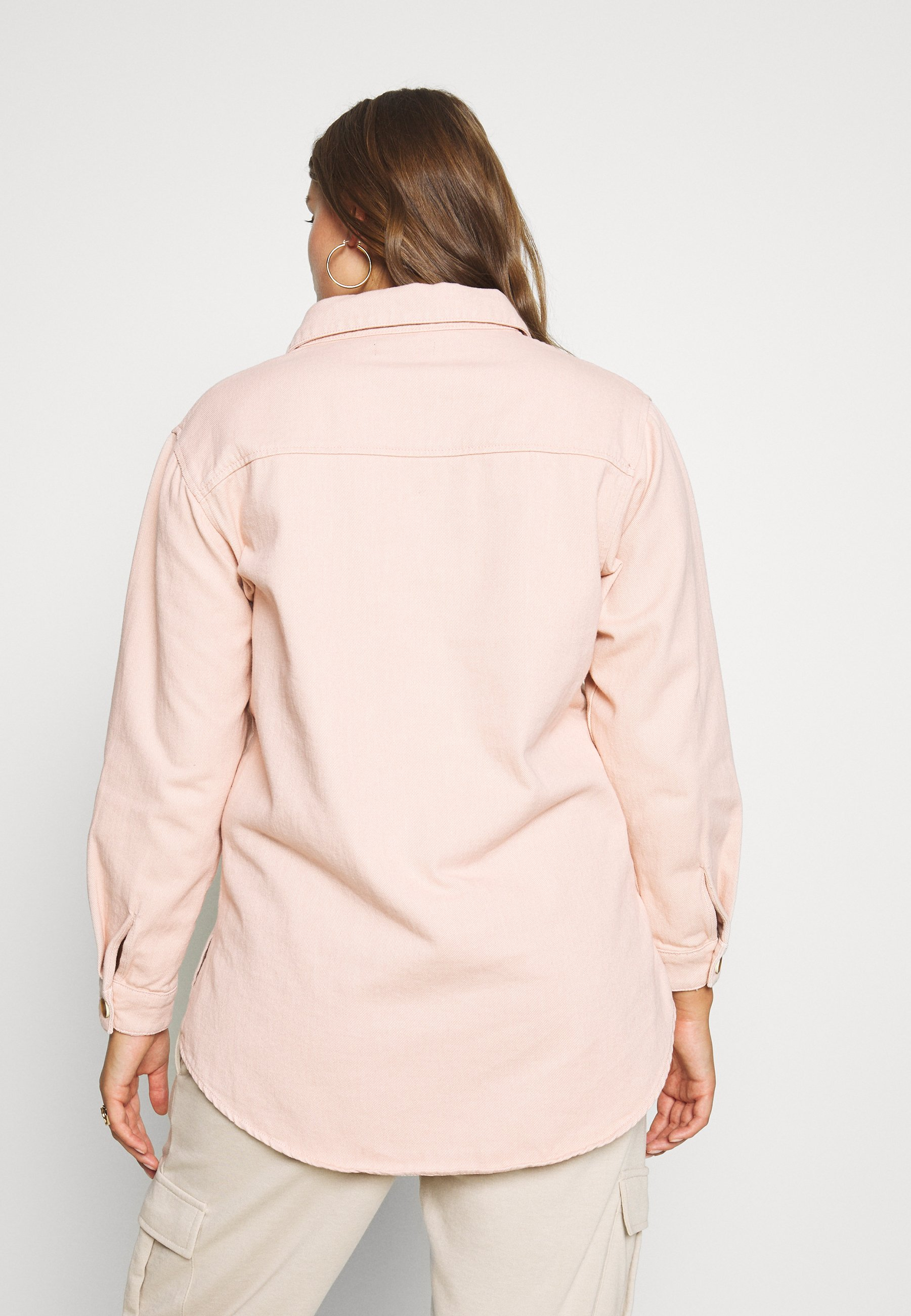 Missguided Plus SHIRT WITH BUTTONS - Skjorte - pink
