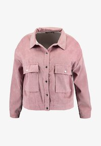 Missguided Plus - PLUS SIZE SHACKET - Summer jacket - pink - 4