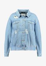 CURVE DISTRESSED BOYFRIEND JACKET - Denim jacket - blue