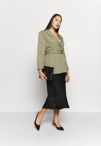 Missguided Plus - BELTED TAILORED JACKET - Short coat - mint - 1