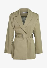 Missguided Plus - BELTED TAILORED JACKET - Short coat - mint - 3
