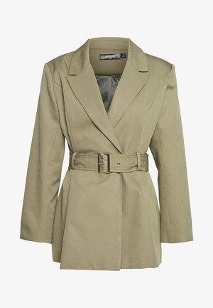 BELTED TAILORED JACKET - Short coat - mint