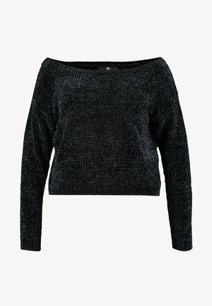 CURVEOFF THE SHOULDER LUXE JUMPER - Pullover - black