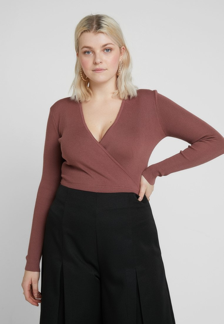 Missguided Plus - EXCLUSIVE CURVE LONG SLEEVE - Maglione - mocha