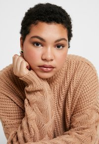Missguided Plus - ROLL NECK CABLE SLEEVE - Jumper - camel - 3