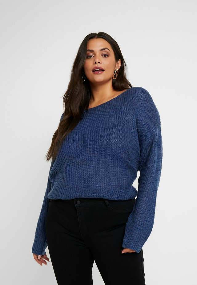 TWIST BACK JUMPER - Strickpullover - navy