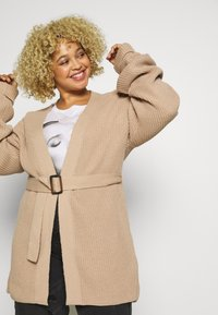 Missguided Plus - BELTED CARDIGAN - Cardigan - oatmeal - 3