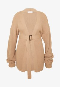 Missguided Plus - BELTED CARDIGAN - Cardigan - oatmeal - 4