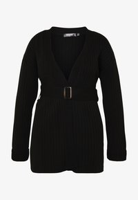 Missguided Plus - EXCLUSIVE RESIN BELTED - Cardigan - black - 4