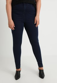 Missguided Plus - VICE HIGHWAISTED - Jeans Skinny Fit - dark blue indigo - 0